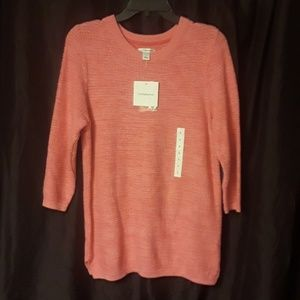 Croft & Barrow Classic Sweater in Aurora Pink, New